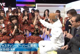 Music Station: Justin Bieber rencontre les filles de AKB48