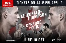 UFC Fight Night: MacDonald vs. Thompson est à guichets fermés