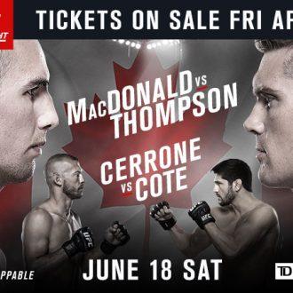 UFC Fight Night: MacDonald vs. Thompson est à guichets fermés