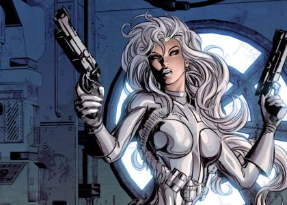 Silver Sable Black Cat