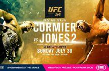 UFC 214: Cormier vs. Jones 2 : Les live stream et sur Canal Indigo!
