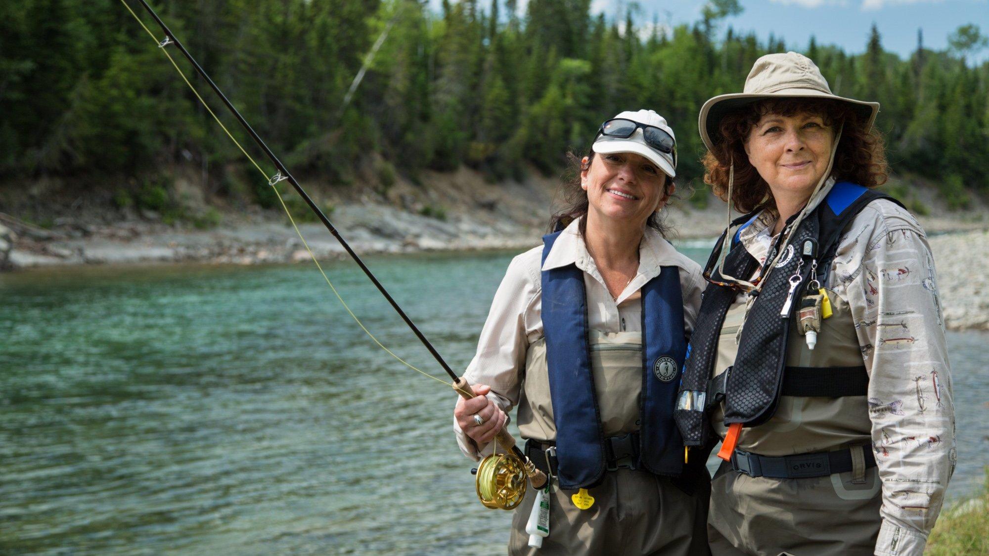 Elles pêchent avec Louise Laparé et Suzanne Beaudet sur Unis