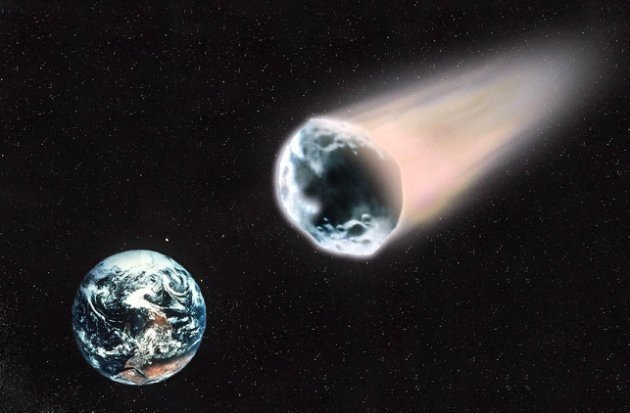 DIGITAL IMAGE OF HUGE ASTEROID THAT IS THOUGHT MAY COLLIDE WITH PLANET EARTH ON OCTOBER 26TH 2028