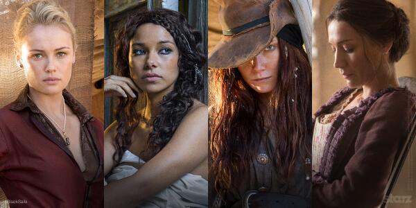 Les femmes de la série Black Sails