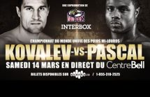 Sergey Kovalev vs Jean Pascal à TVA Sports