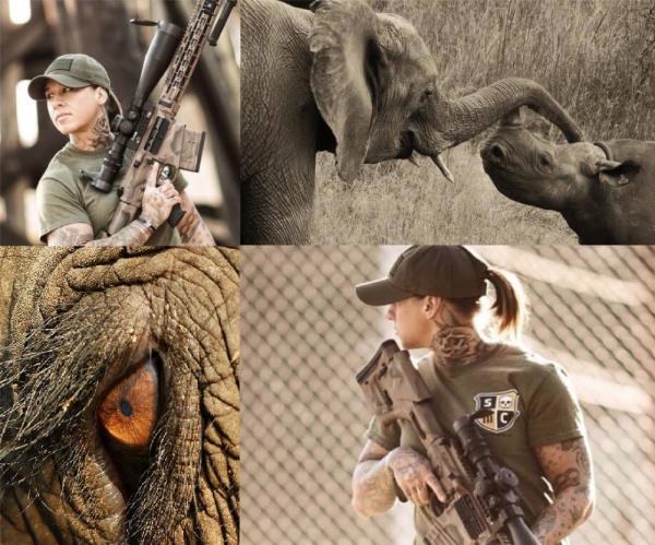 Kinessa Johnson: elle chasse les braconniers en Afrique