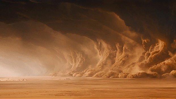 La cauchemardesque tempête de sable créée à l'ordinateur.