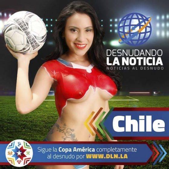 Copa America 2015: les lectrices de Desnudando La Noticia se dénudent pour leur équipe