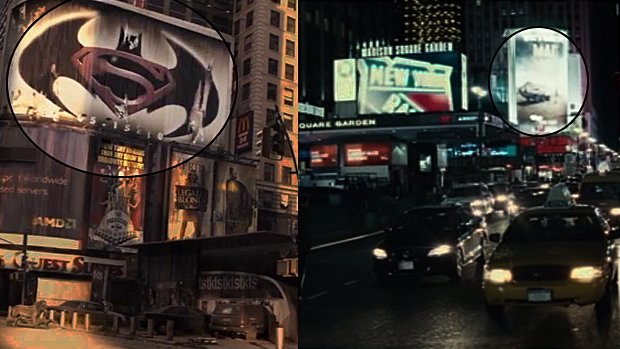 Batman v Superman dans I Am Legend (à gauche) et Mad Max: Fury Road dans Run All Night (à droite)...