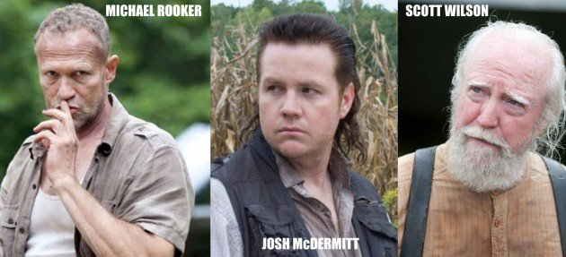 The Walking Dead: Michael Rooker (Merle Dixon); Josh McDermitt (Eugene Porter) et Scott Wilson (Hershel Greene)