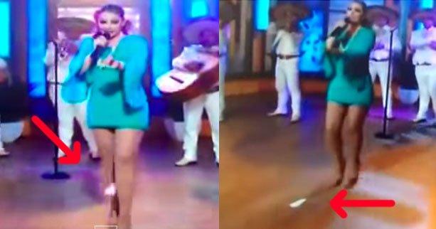 Patricia Navidad: la chanteuse mexicaine perd sa serviette sanitaire à la télévision
