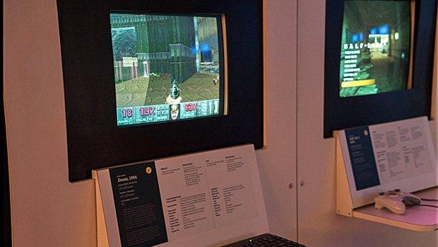 Un classique parmi les grands! Le jeu DOOM, d'id Software, lancé en 1993. Ce précurseur a lancé la mode du first person shooter.