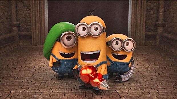 Les protagonistes de gauche à droite : les Minions Stuart, Kevin et Bob.