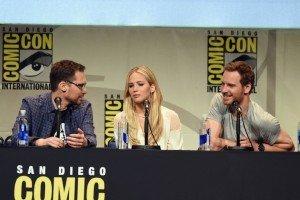Bryan Singer, Jennifer Lawrence et Michael Fassbender