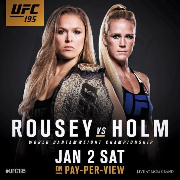 UFC 195: Ronda Rousey va affronter Holly Holm