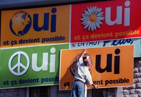 Dans les coulisses du référendum de 1995: Simon Durivage à la barre d'une émission spéciale