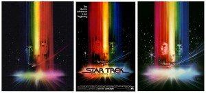 L'évolution de l'affiche de Bob Peak pour Star Trek: The Motion Picture (1979). L'acteur William Shatner a exigé qu'il soit à gauche au lieu de Leonard Nimoy, et que la taille de Persis Khambatta soit à 60% par rapport à eux...