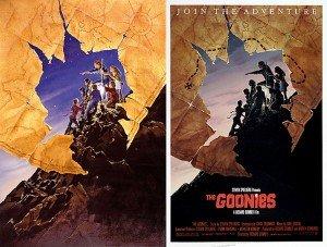 L'évolution de l'affiche de John Alvin pour The Goonies (1985).