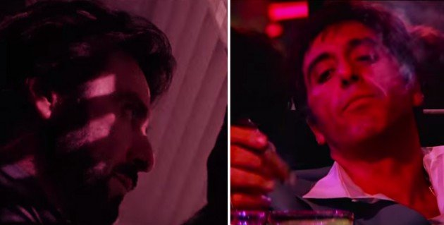 Le Charlie Brigante de 1993 observe le Tony Montana de 1983!