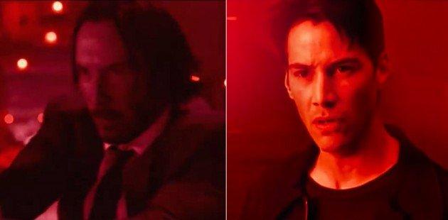 Le John Wick de 2014 côtoie le Neo de 1999!