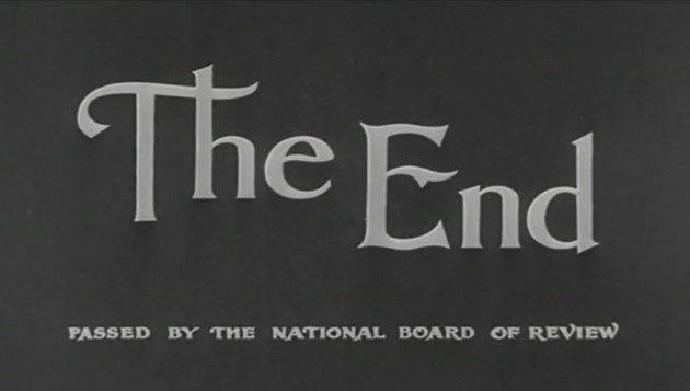 Le « The End » à la fin du film Modern Times réalisé par Charlie Chaplin en 1936