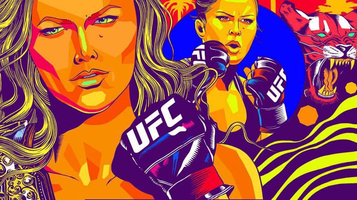 UFC: une gigantesque fresque murale à l'image de Ronda Rousey à Venice en Californie