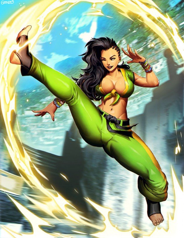 Laura-Street-Fighter-V-Art-by-Genzoman