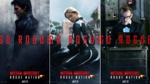 Affiches promotionnelles des personnages pour le film Mission: Impossible - Rogue Nation (2015).