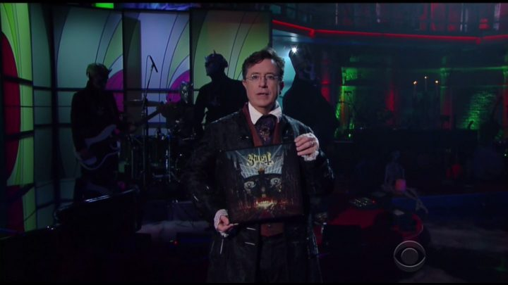 Ghost envoûte The Late Show with Stephen Colbert