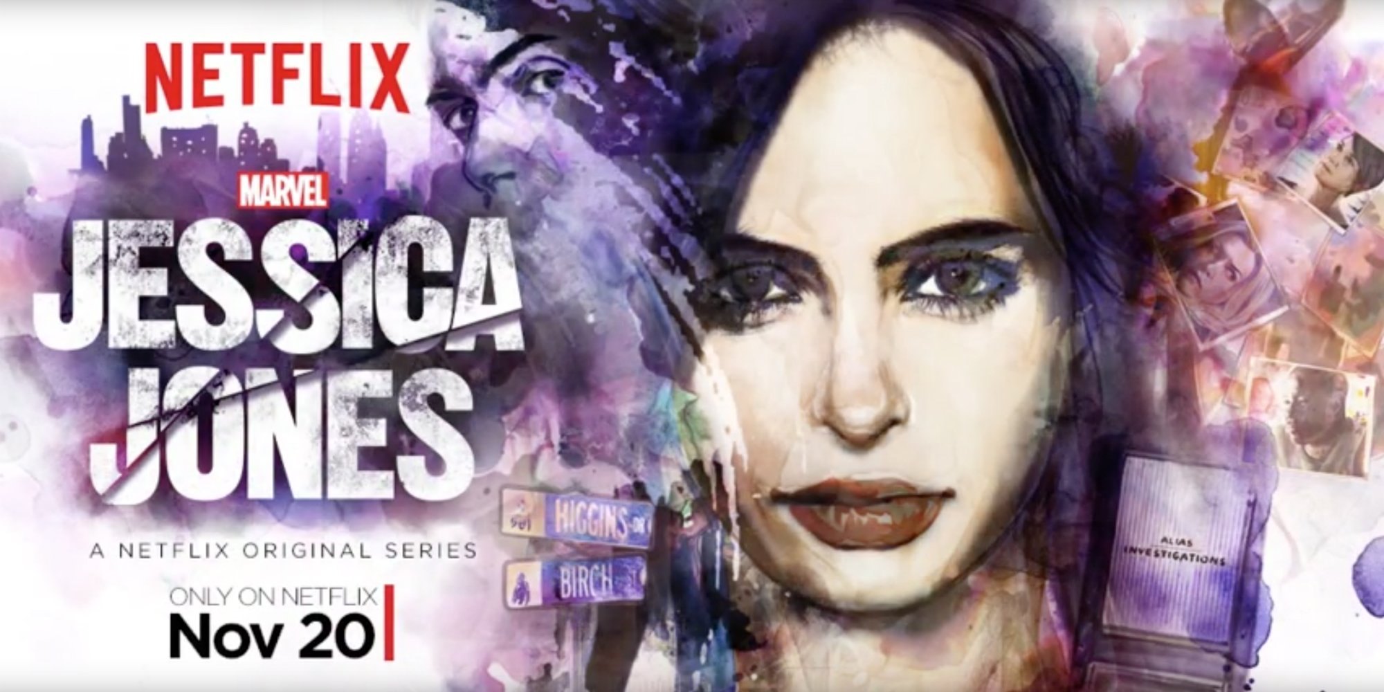 Marvel's Jessica Jones est disponible MAINTENANT sur Netflix!!