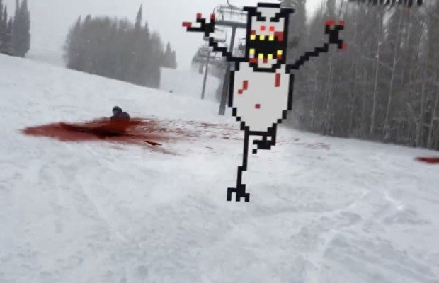 Real Life SkiFree: une version gore de Andrew McMurry