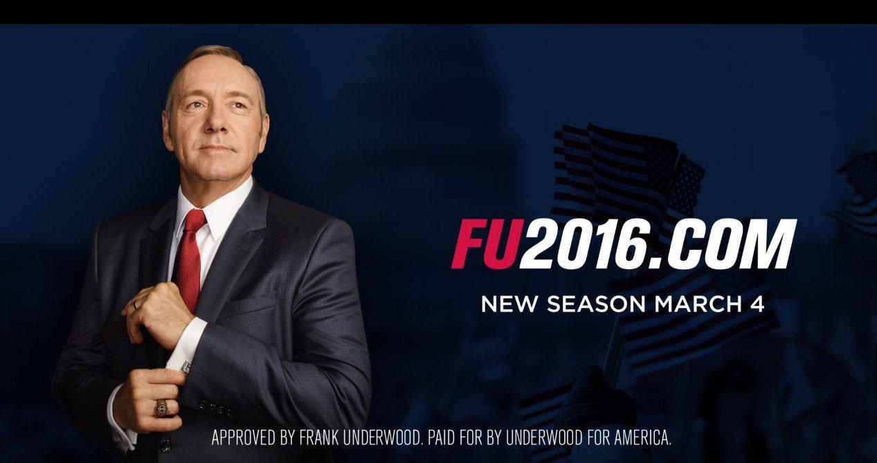 House of Cards saison 4: Frank Underwood a un message pour vous!