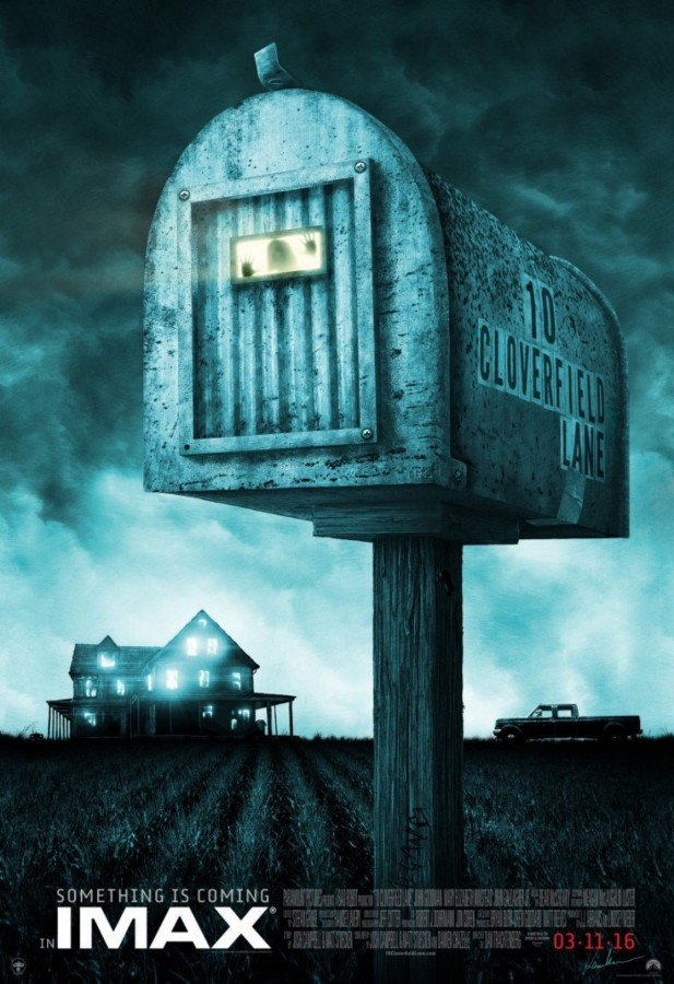 L'affiche IMAX de Kevin M. Wilson, aka Ape Meets Girl, pour 10 Cloverfield Lane.