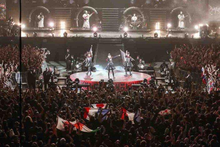 BABYMETAL live au SSE wembley arena de Londres.