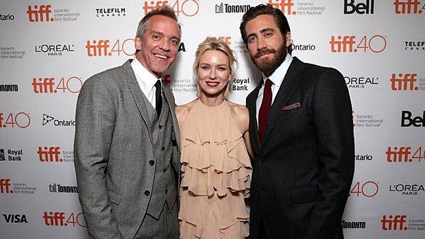 Jean-Marc Vallée, Naomi Watts et Jake Gyllenhaal durant le Toronto International Film Festival le 10 septembre 2015.