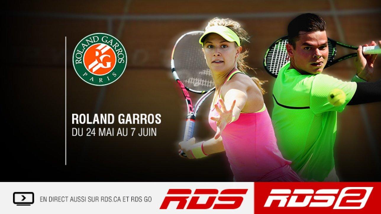 Roland-Garros:  plus de 70 heures de couverture à RDS2