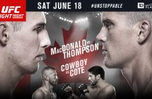 UFC Fight Night MacDonald vs Thompson à RDS2