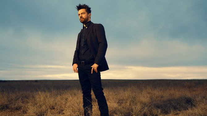 Dominic Cooper est Jesse Custer; - Preacher _ Saison 1,  Photo Credit: Matthias Clamer/AMC