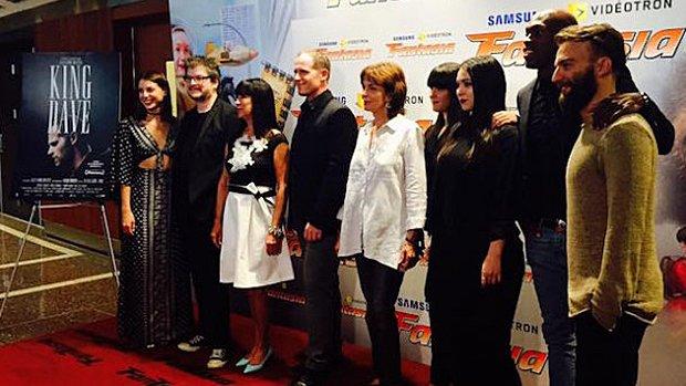 L'équipe du film King Dave qui a été présenté en ouverture de Fantasia.