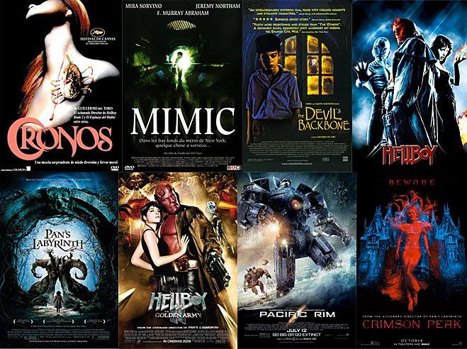 8 titres de la filmographie de Guillermo del Toro.