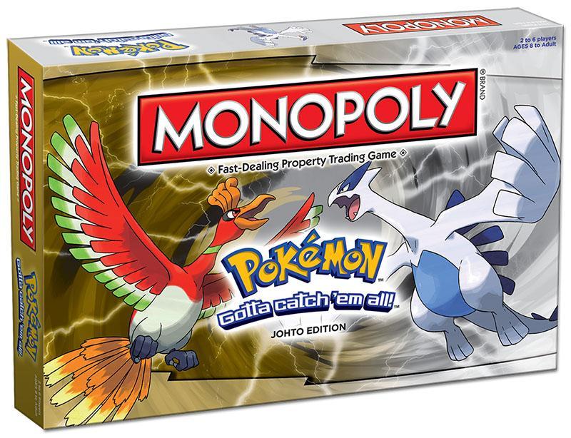 Monopoly: premières image de l'édition Pokémon Johto