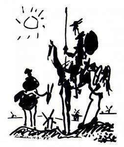 Le Don Quichotte de Picasso est l'un des tatouages dans le film.