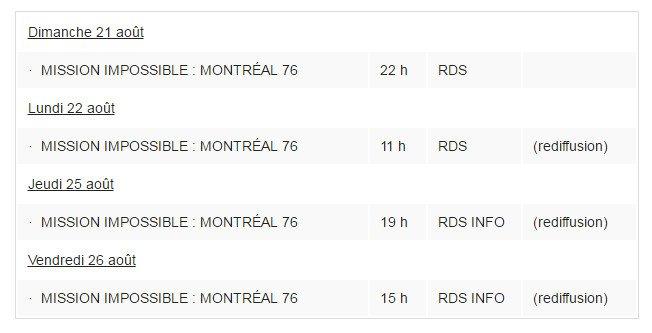 25 ans d'émotions: Mission impossible Montréal 76