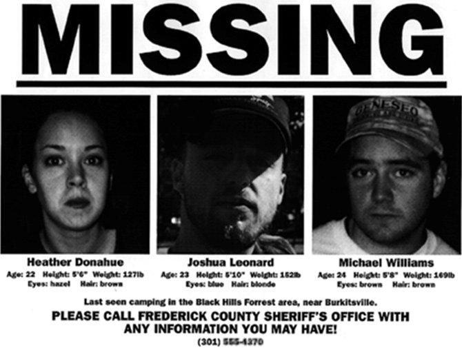 En 1999, les trois acteurs du film The Blair Witch Project ont fait l'objet de fausses publicités...