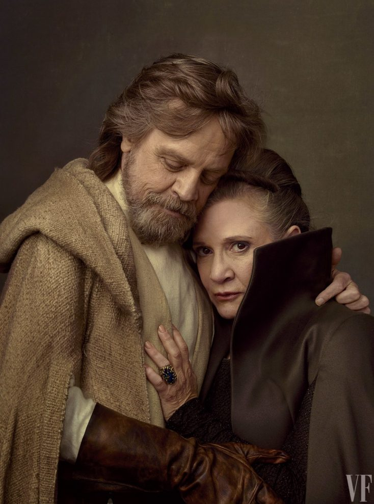 Mark Hamill et Carrie Fisher. RIP Carrie.