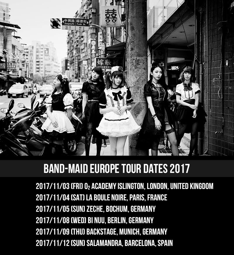 BAND-MAID tour date poster