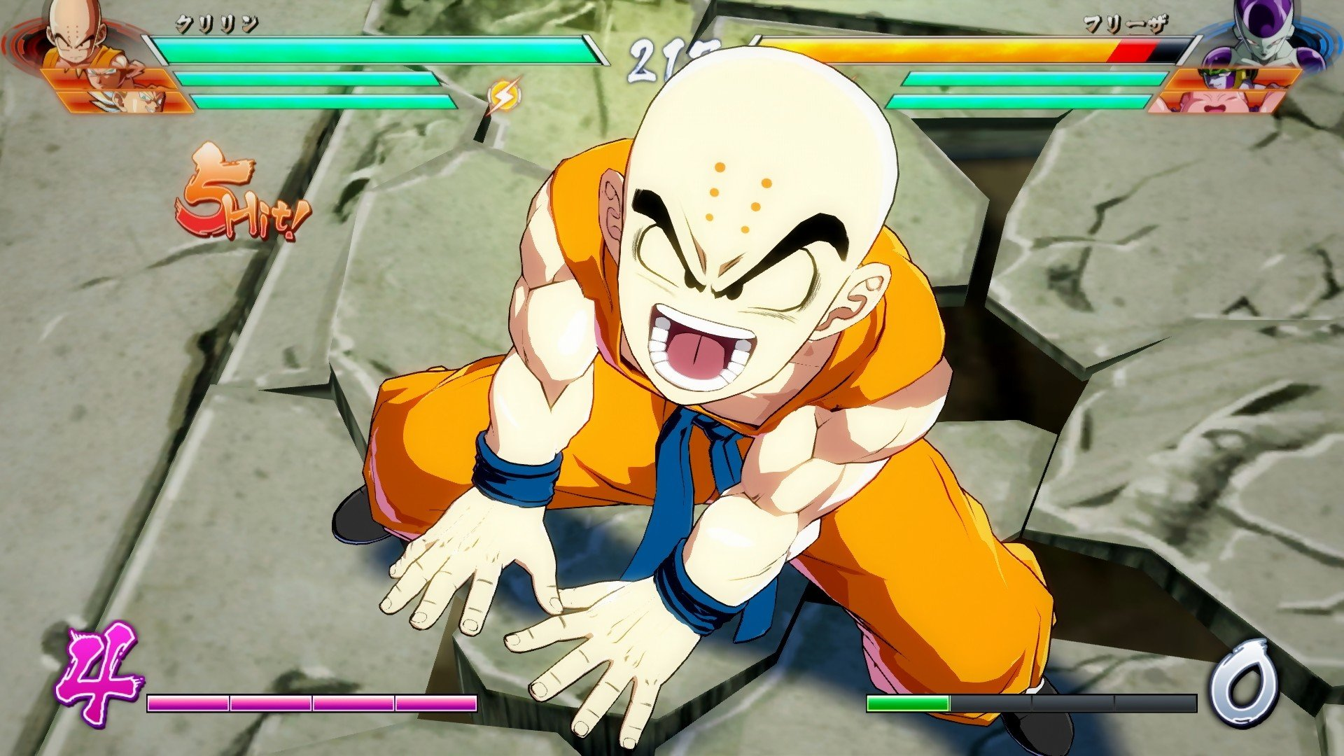 Dragon Ball FighterZ:  Krilin et son mode Histoire