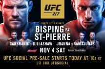 UFC 217: Bisping vs St-Pierre en stream et sur Canal Indigo