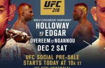 UFC 218: Holloway vs. Aldo 2 en direct sur Canal Indigo