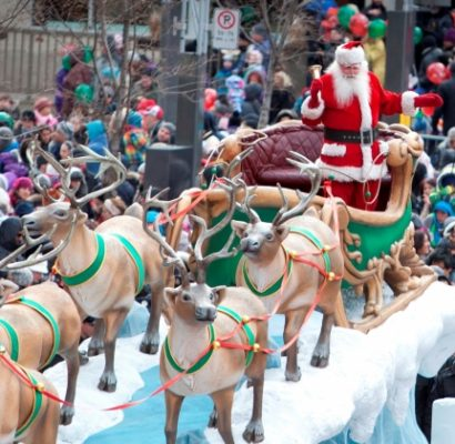 Défilé du Père Noël Destination centre-ville sur TVA et YOOPA